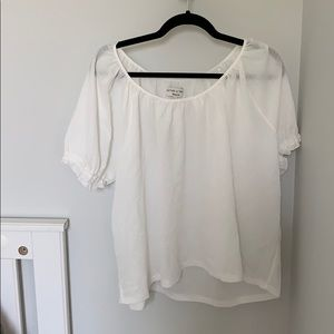 Madewell texture and thread peasant top NWT